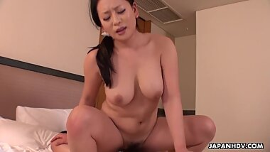 Japanese maid, Rei Kitajima is fucking a horny client, uncensored