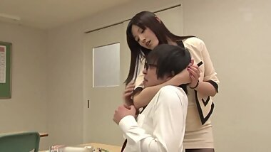 Sexy Japanese Teacher fucking all her student