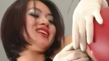 Femdom, huge dildo, strapon and anal fisting by Japanese mistress