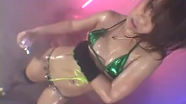 Dance ?? Oil Green 60fps - Small Tits gogo dancing tease jav